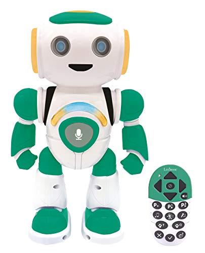 Lexibook- Powerman Jr. Robot Inteligente Que Lee en los Pensamientos, Juguete para niños y niñas, Danza, Juegos de música, Quiz Animales, programable Stem, Verde/Azul, ROB20FR
