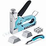 SHALL Staple Gun Heavy Duty, 3-in-1 Upholstery Staple Gun Kit with 3000 Staples, Staple Remover, Manual Brad Nailer with Specific Staples Outlet Position Indicator