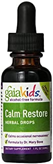 Gaia Herbs, Calm Restore, Herbal Drops, Alcohol-Free Formula, 1 fl oz (30 ml) by Gaia Herbs