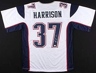 Rodney Harrison New England Patriots Autographed Signed White Away Jersey JSA - Authentic Memorabilia