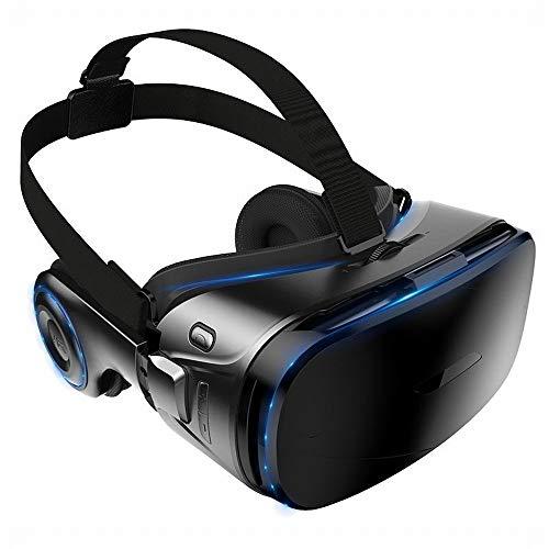 RVTYR Regalo de cumpleaños Kodeng K9 Realidad Virtual VR Gafas 4D Juegos del Teatro móvil 3D con Auriculares, Negro, un tamaño Gafas Multimedia (Color : Black, Size : One Size)