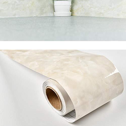 Borde del papel pintado Beige Auto Adhesivo del Papel Pintado del PVC Cenefa autoadhesiva para decoración de pared de...