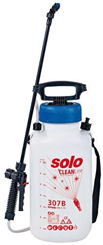 SOLO 30702 Drucksprühgerät – zur Desinfektion alkalibeständiger 7 Liter Drucksprüher – für Desinfektionsmittel und Reinigungsmittel mit pH Wert 7-14 Reinigungs-Druckspritze CLEANLine