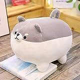 Kawaii Plushies Shiba Inu Plush Plush Toy Pillows Doll Dog, Corgi Plush Dog Stuffed Animal for Decorate Gifts for Friend and Family(16 inch Gray)