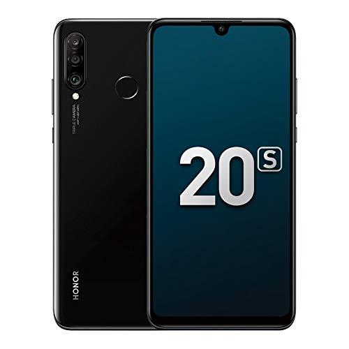 Honor 20S Smartphone, 6GB RAM + 128GB ROM Cellulari, 6,15  Schermo a piena vista, 48MP + 8MP + 2MP Telecamere triple with con Super grandangolare, Illuminazione verticale 3D (Nero Mezzanotte)