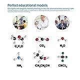 UnitedheartES Molecular Model Kit 239 PCS OCDAY Química orgánica e inorgánica Molecular Model Student Set (86 átomos y 153 Partes de Enlaces) - Multicolor