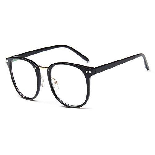 Meijunter Mode Klare Linse Brille Vintage Optische Gläser Damen Herren Groß Runde Voll Rahmen Brillen