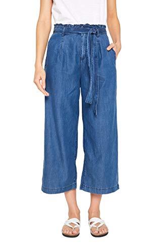 edc by ESPRIT Damen 049CC1B007 Flared Jeans, Blau (Blue Medium Wash 902), W31 (Herstellergröße: 31/28)
