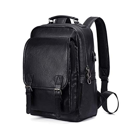 Travel Backpack, Laptop Business Backpack Bag with USB Charging Port Water Resistant School Rucksack Fits up to 15.6 Inches Business College Outdoor Travel Hiking Bag for Women Men ( Color : Black )