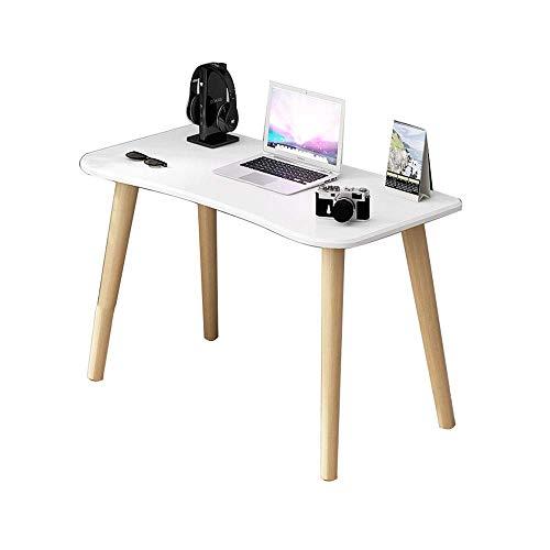 KAISIMYS Mesa de Madera nórdica para computadora, Escritorio de Oficina sólido Simple y Moderno, Escritorio Multifuncional para el hogar, Escritorio de computadora pequeño en el Dormitorio, Blanco, 8