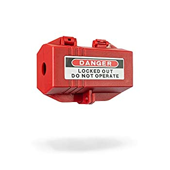 TRADESAFE Plug Lock for Lockout Tagout Electrical Plug Lockout M Size - 110 to 125V 30A Power Cord Lock for Lock Out Tag Out Safety Supply Loto Power Plug Lock Out