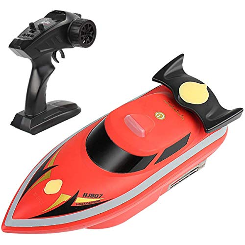 POPDQ Fischfinder Futterboot Baitboat,1,7 kg Laden 500m Fernbedienung Fischerköder Bait Boat 2,4 G,High Speed Ferngesteuertes Boot, Hoch Wasserdicht Köderboot mit Rucksack,Rot