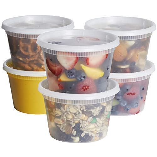 Best Buy! [48 Sets] 16 oz. Plastic Deli Food Storage Containers With Airtight Lids