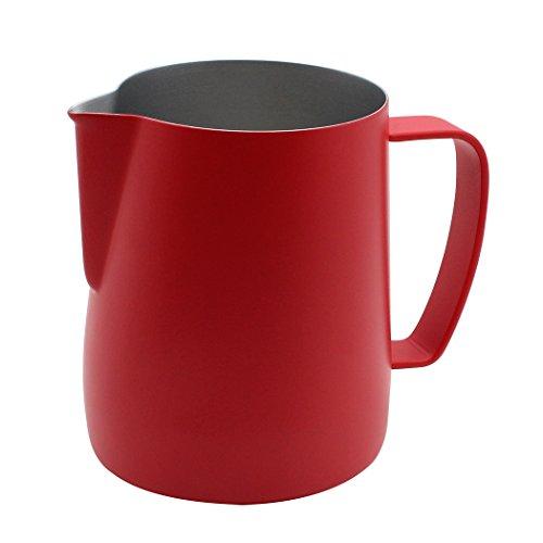 Dianoo Brocca Per Bricco In Acciaio Inossidabile Tazza Di Latte Frolla Adatta Per Il Caffè Latte E Latte 350ml Rosso