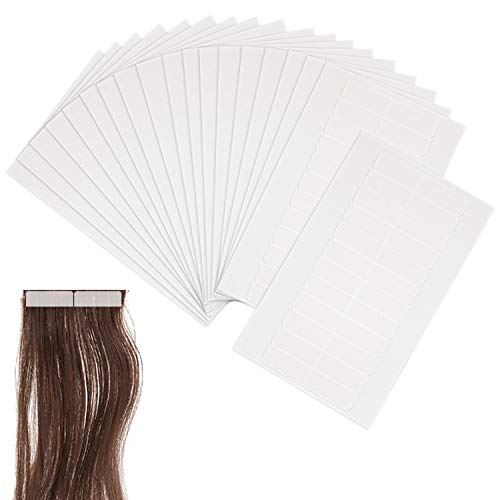 "Hedume 240 Pieces Hair Extension Tape Tabs Double Sided Extension Tapes for Replacement, Tape-in Hair Extension Tape, Professional Strong No-Residue Bonding Double-Sided Replacement Tape, 1.6"" x 0.3"""