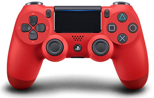 DualShock 4 Wireless Controller for PlayStation 4 - Magma Red (Renewed)