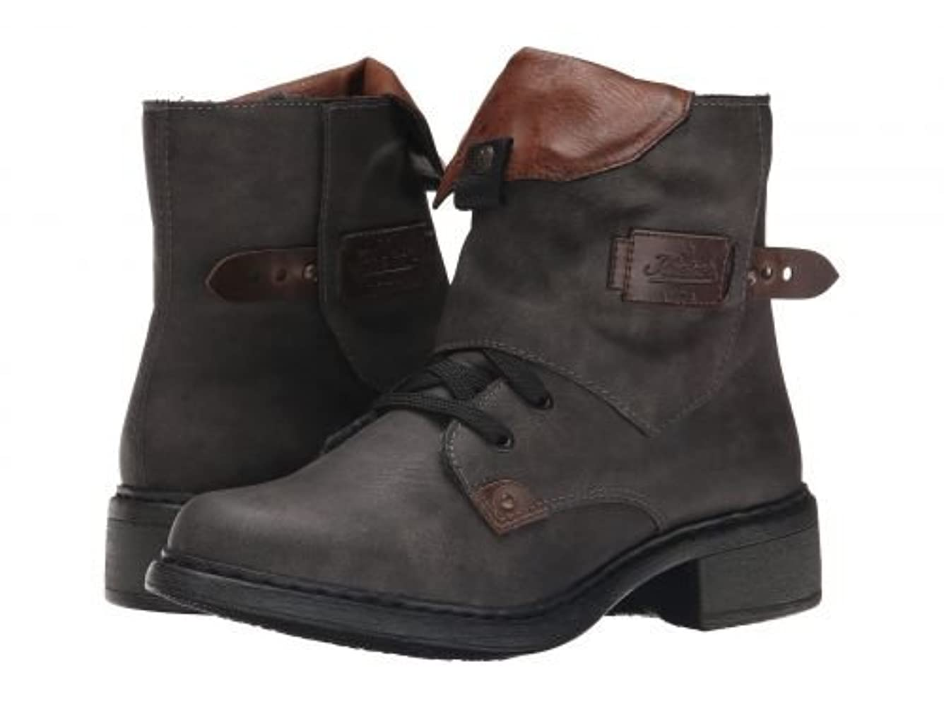 嫌がる預言者かすかなRieker(リーカー) レディース 女性用 シューズ 靴 ブーツ アンクルブーツ ショート Y3242 - Basalt Mendoza/Kastanie Ambor/Brandy Eagle [並行輸入品]