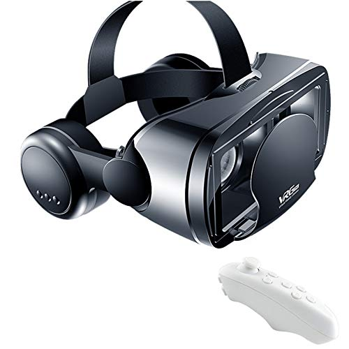 ZZYYLL [2021 New Version] Pansonite Vr Headset with Remote Controller, 3D Glasses Virtual Reality Headset for VR Games & 3D Movies, Eye Care System for iPhone and Android Smartphones,No Blue Light