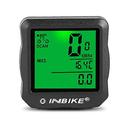 Wisdomx Bicicleta Cuentakilómetros, Velocímetro de Bicicleta con Cronómetro/Velocidad Promedio/Tiempo de Viaje/Odómetro de...
