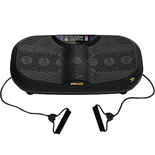 Progressive UltraFit Pro Vibration Plate Exercise Machine - Entire Body Workout Vibration Fitness Platform Resistance Bands Home Training Equipment for Weight Loss & Toning