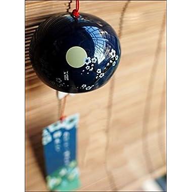 Japanese Wind Chimes Wind Bells Ceramic wind bell garden chime Birthday Gift Christmas Gift Home Decors (Winter Prunus mume)