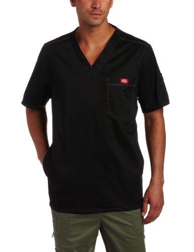 Dickies-Mens-Generation-Flex-Utility-Scrubs-V-Neck-Shirt