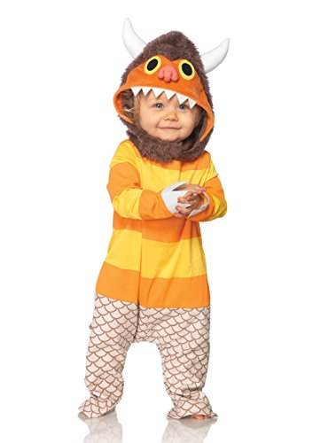Leg Avenue Baby's Where The Wild Things Are Carol Costume, Brown/Orange, 18-24 Months