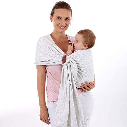 ASEDRF Baby Carrier Ring Sling - Tela De Bambú Y Lino Extra Suave - Envoltura Liviana - para Recién Nacidos, Bebés Y Niños Pequeños Baby Shower - Tela Hermosa,D