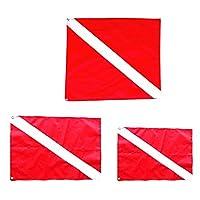 ダウンフラッグ ボートフラッグ ダイビング 旗 取り付け 簡単 マリンスポーツ 用品 3個入り