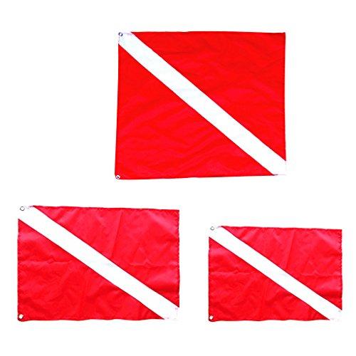 FLAMEER 3 Unidades de Bandera de Buzo Accesorio de Kayak Barco Esnórquel Duradero