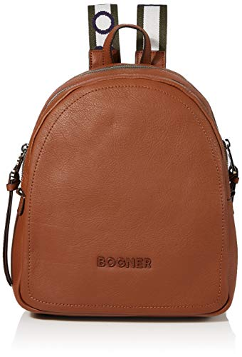 Bogner Damen Rucksack Ladis Hermine aus Leder Backpack mit Reißverschluss