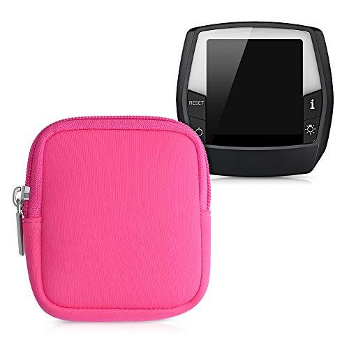 kwmobile Tasche kompatibel mit Bosch Intuvia - E-Bike Computer Neopren Hülle - Schutztasche Neon Pink