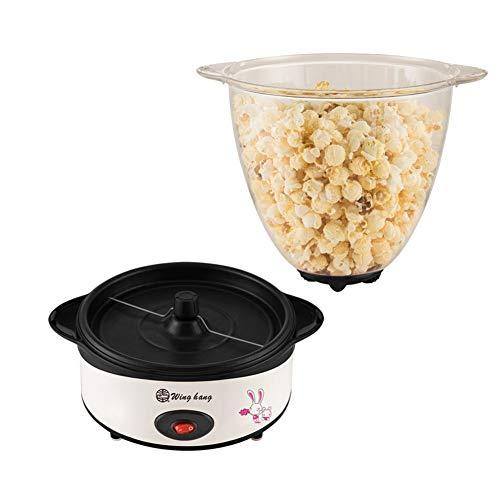 AZCSPFALB Automática Máquina de Palomitas Aire Caliente con Mango Anti-Escaldado y Recubrimiento Antiadherente,Máquina de Palomitas de Maíz Gourmet, Sin Grasa Popcorn Maker para Adultos y Niños