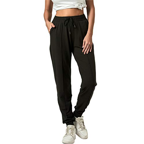 FITNEXX Women's Active Sweatpants Workout Yoga Joggers Pants Ultra Soft Lounge Drawstring Loose Sweat Pants with Pockets Black