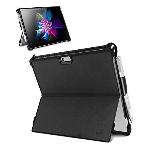 YENOCK Microsoft Surface Pro 7 / Pro 6 / Pro 5 / Pro 2017 / Pro 4 Case, All-in-One Shockproof Rugged Folio Stand Protective Cover with Kickstand Case+Pencil Holder, Compatible with Type Cover