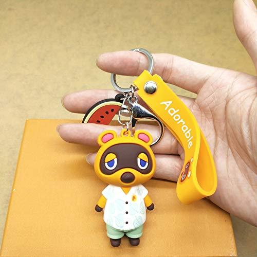 Xpccj Llaveros de gel de sílice, diseño de animales cruzados de animales, accesorios de regalo PS4 para niños y niñas, color 5