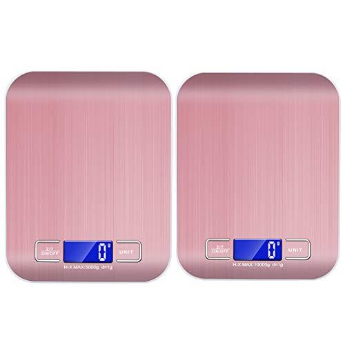 BIlinli Balanza Digital de Cocina electrónica Delgada 5 kg / 1g 10 kg / 1g Gadget de balanza de pesaje de Peso Herramientas de Cocina de Plataforma de Metal duraderas