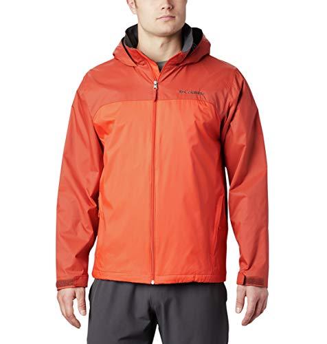 Columbia Men's Glennaker Lake Lined Rain Jacket, Waterproof & Breathable Outerwear, -Wildfire/Carnelian Red, Small