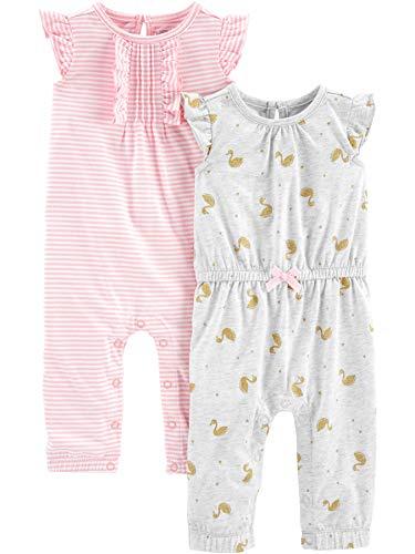 Simple Joys by Carter's - Mono - para bebé niña rosa Pink Stripe/Gold Swan 24 Months