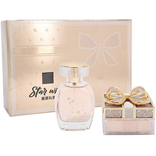 Fragancias para mujeres, fragancias para mujeres Control de aceite de perfume Ajuste suelto Juego de polvos Regalo de San Valentín, juego de belleza