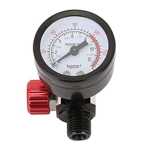 Gmkjh Regulador de presión de Aire, medidor de presión de la Mesa de Ajuste de la válvula reguladora de presión del regulador de presión de la Pistola de pulverización de 1/4 de Pulgada