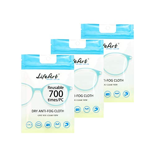 3 Pack Anti-Fog Wipe, Eyeglasses Cleaning Cloths, Cleaning Wipe for...