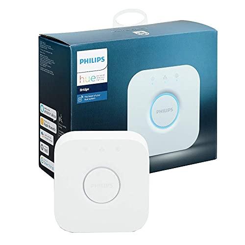 Philips Hue Puente de Conexión Controlable vía WiFi, Iluminación Inteligente, Compatible con Alexa y Google Home G14, 9 W, Blanco