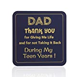 Multifunctional Magnetic Pad, Funny Drink Coaster, Double-Sided Refrigerator Magnet & Bar Décor, Magnetic Dry Erase Notepad with Motivational Message - Stylish Gift for Dad