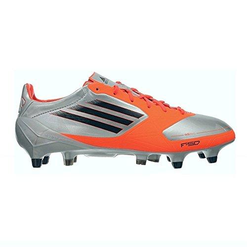adidas F50 Adizero XTRX SG Synthetik V21454 Fußballschuhe Stollen Herren Silber Orange (Metallic Silver / Black1 / Inferno Red)