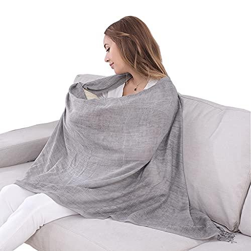 ZAYZ Bufanda de Lactancia Infinity Cubierta de Lactancia, Mantón Elegante, Toldo para Asiento de Automóvil Ultra Suave, Manta Ligera (Color : Grey)