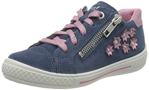 Superfit Mädchen Tensy Sneaker, Blau (Blau/Rosa 80), 27 EU