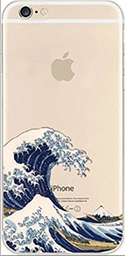 deco fairy iphone 6 case rubbers DECO FAIRY Compatible with iPhone 6 / 6s, Cartoon Anime Animated Under a wave The Great Wave off Kanagawa famous Japanese woodblock print transparent translucent flexible silicone clear cover case