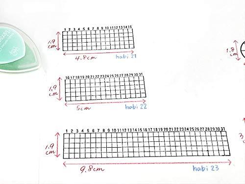 縦1.9cm、幅9.8cmと、マンスリーカレンダーの空きスペースにも押しやすいコンパクトなサイズ感。  一つ手元にあると便利ですよ*