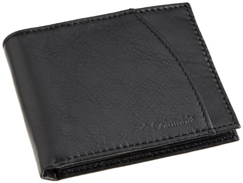 Columbia Men's Leather Extra Capacity Slimfold Wallet,Black Emboss